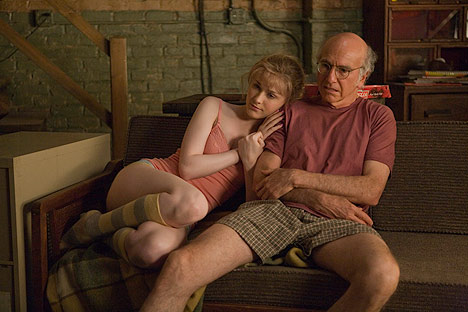 "Larry David and Evan Rachel Wood in ""Whatever Works."""